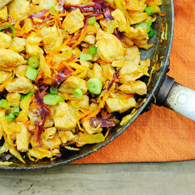 Warm Buffalo Chicken Slaw by stiritup.me
